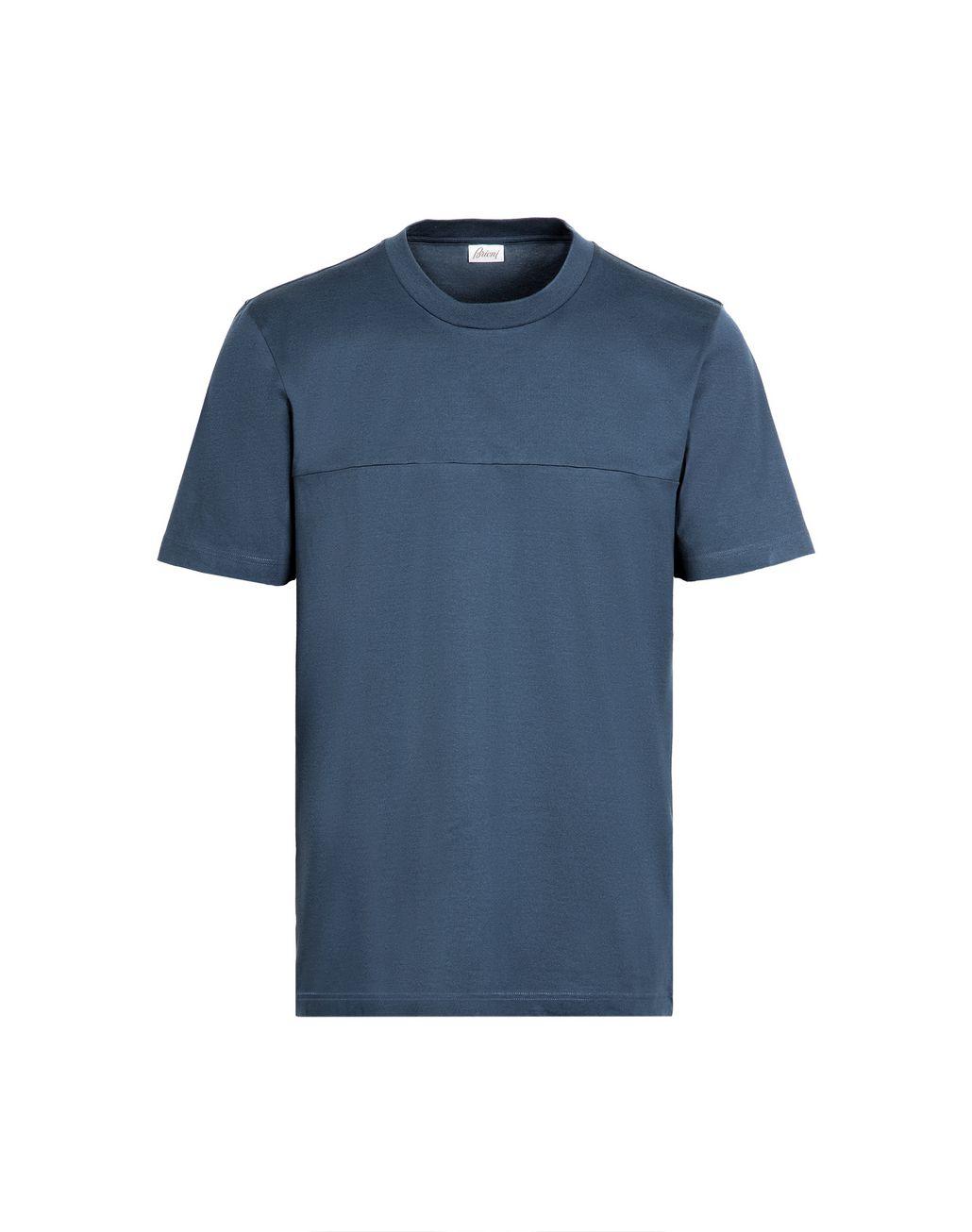 BRIONI Petrol Blue T-Shirt T-Shirts & Polos Man r