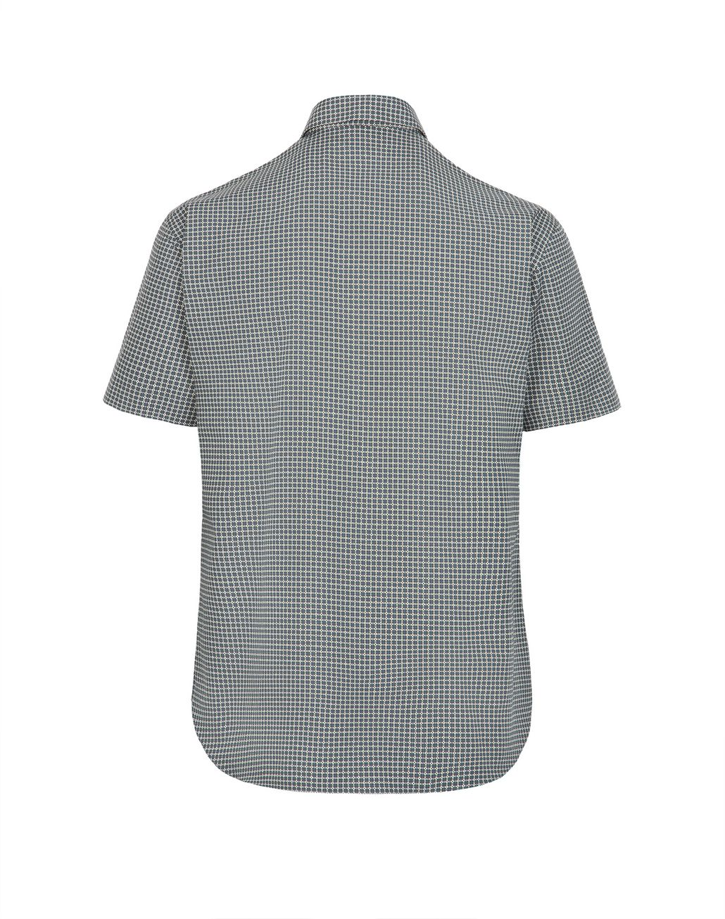 BRIONI Lead and White Short Sleeved Shirt Leisure shirt Man e