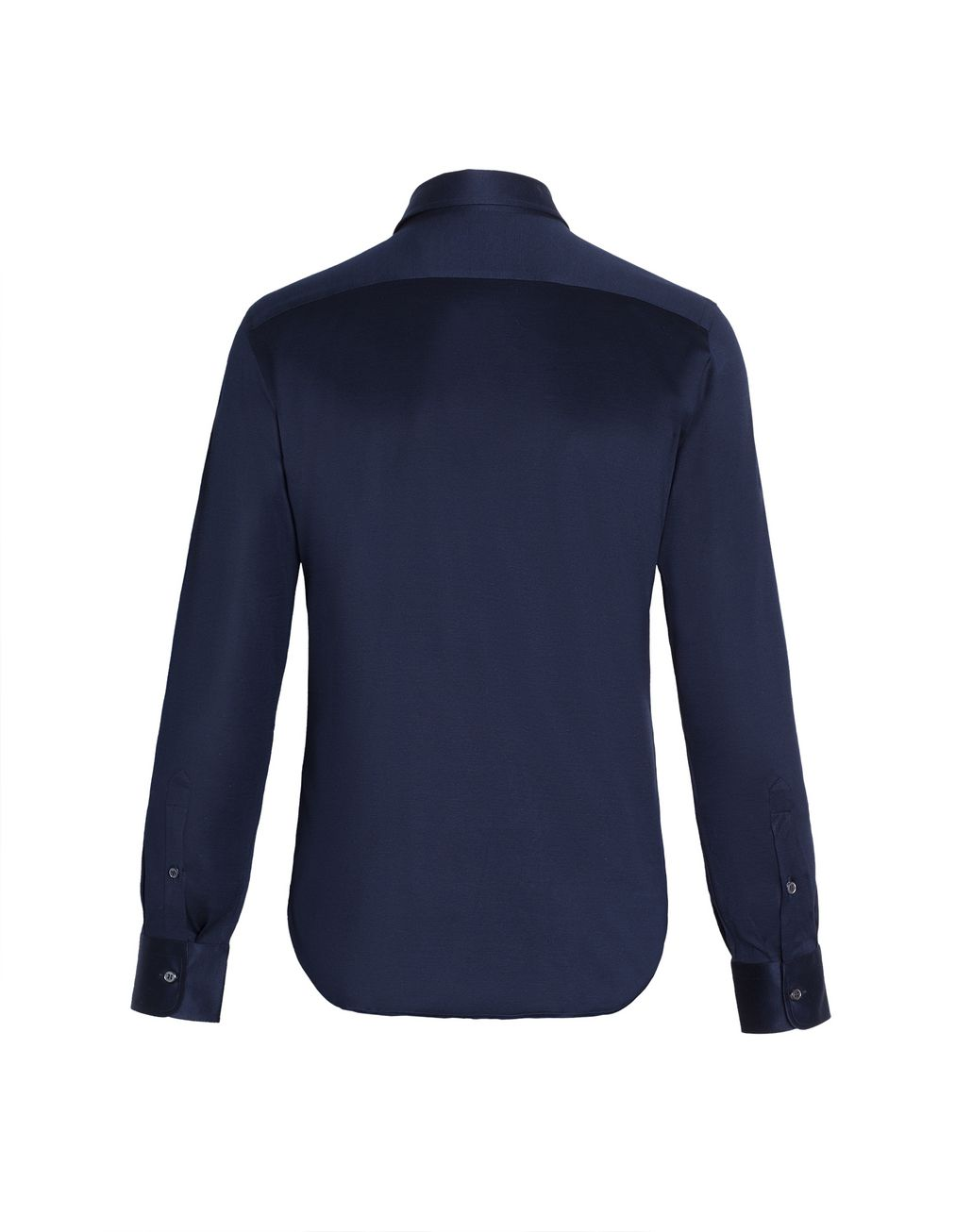 BRIONI Navy Blue Long Sleeved Logoed Jersey Shirt Leisure shirt Man d