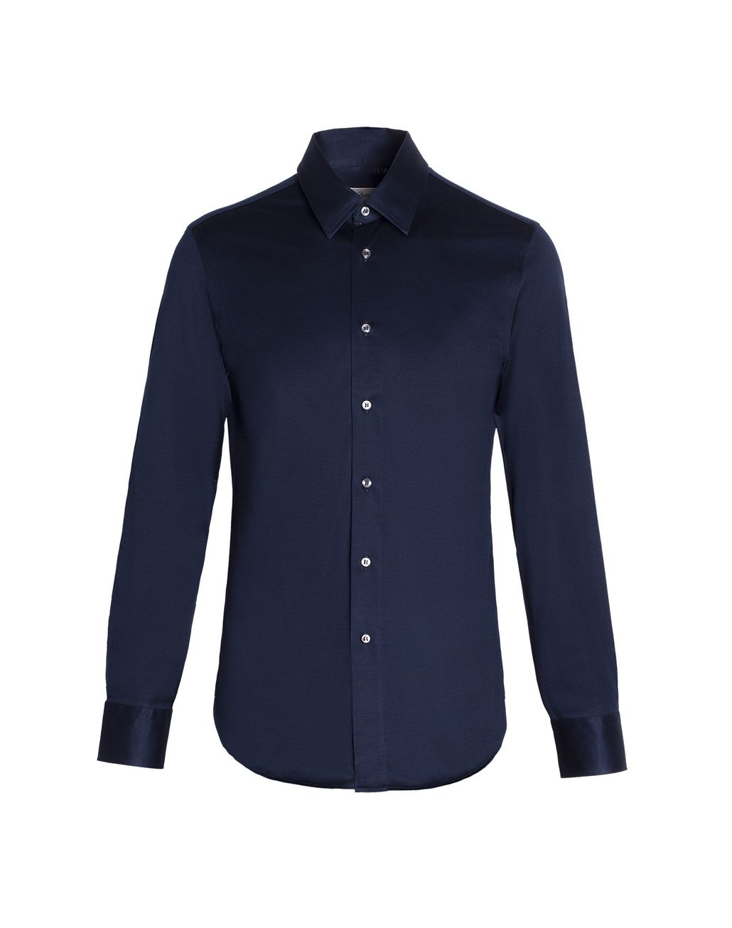 BRIONI Navy Blue Long Sleeved Logoed Jersey Shirt Leisure shirt Man r