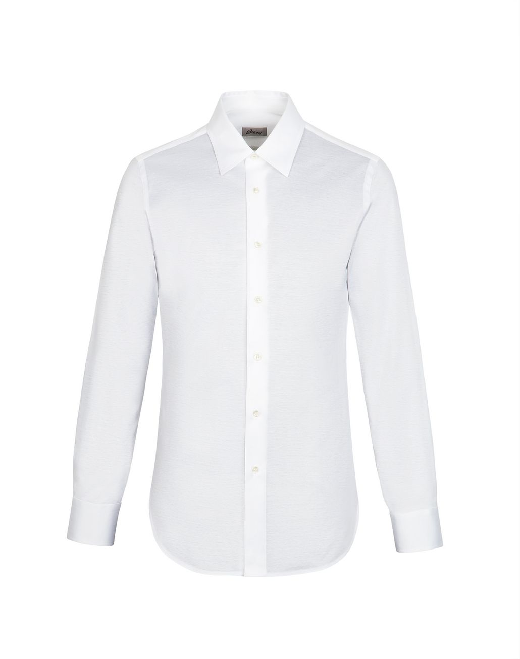 BRIONI White Long Sleeved Jersey Shirt Leisure shirt [*** pickupInStoreShippingNotGuaranteed_info ***] d