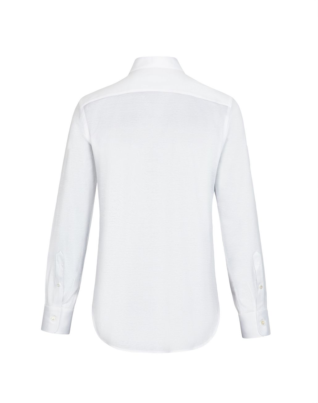 BRIONI White Long Sleeved Jersey Shirt Leisure shirt U e