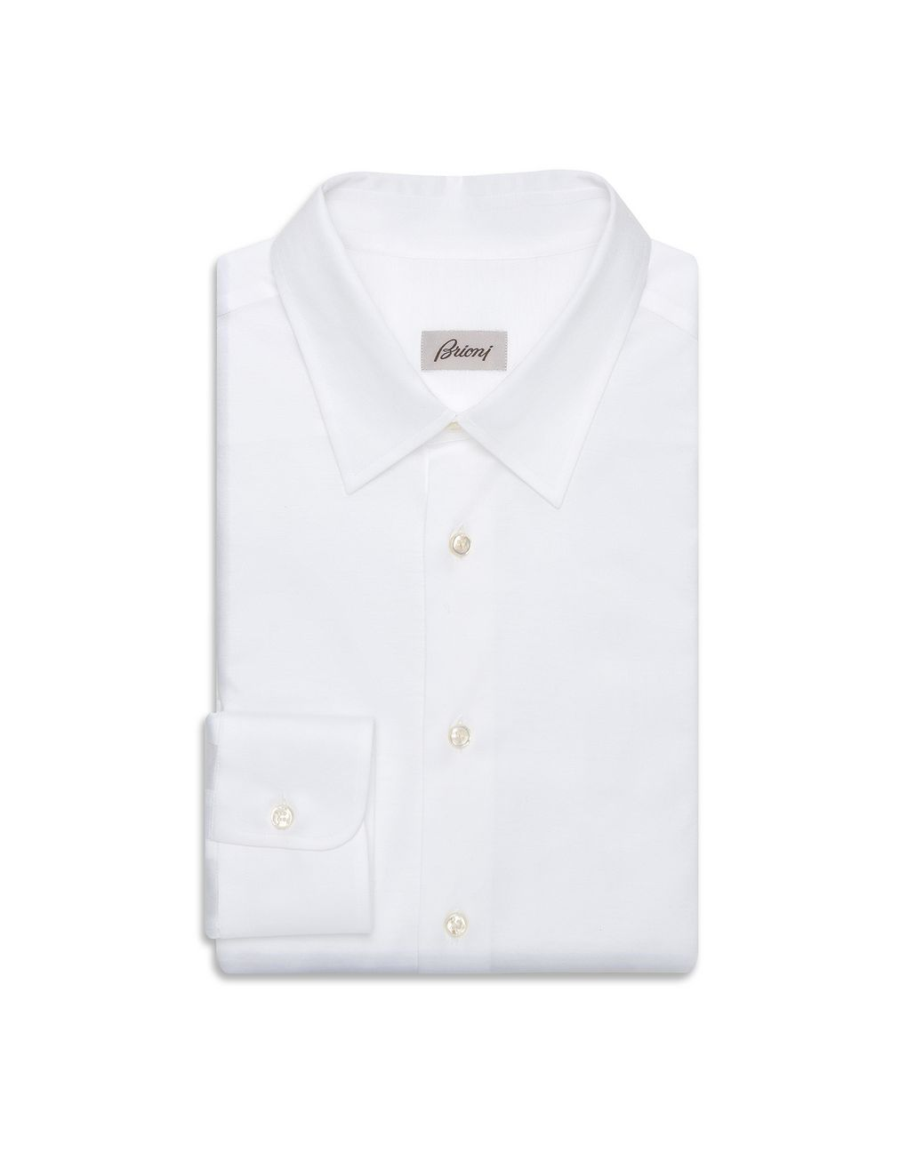 BRIONI White Long Sleeved Jersey Shirt Leisure shirt U f