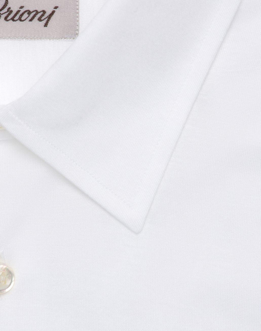 BRIONI White Long Sleeved Jersey Shirt Leisure shirt Man r