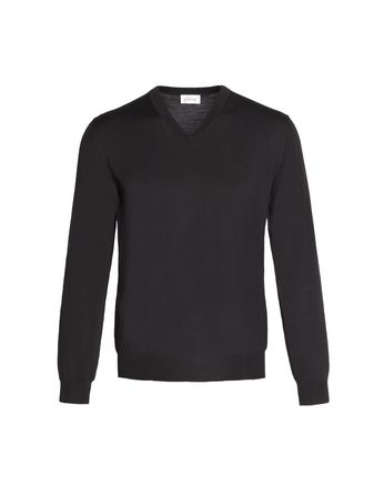 'Essential' Black V-Neck Sweater