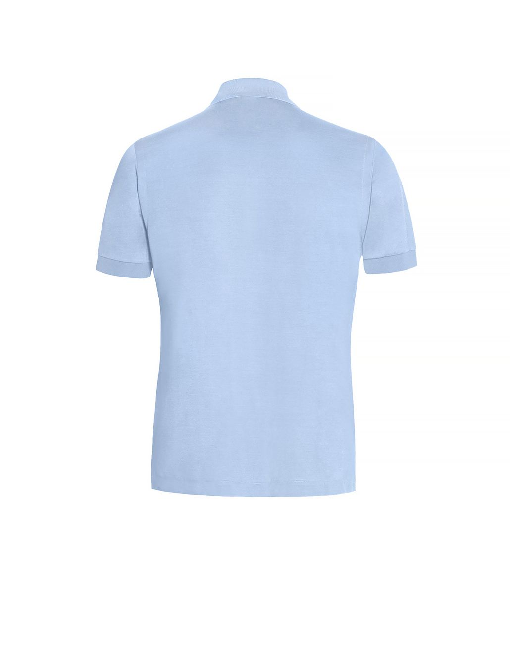 BRIONI Baby Blue Silk Polo Shirt T-Shirts & Polos Man d