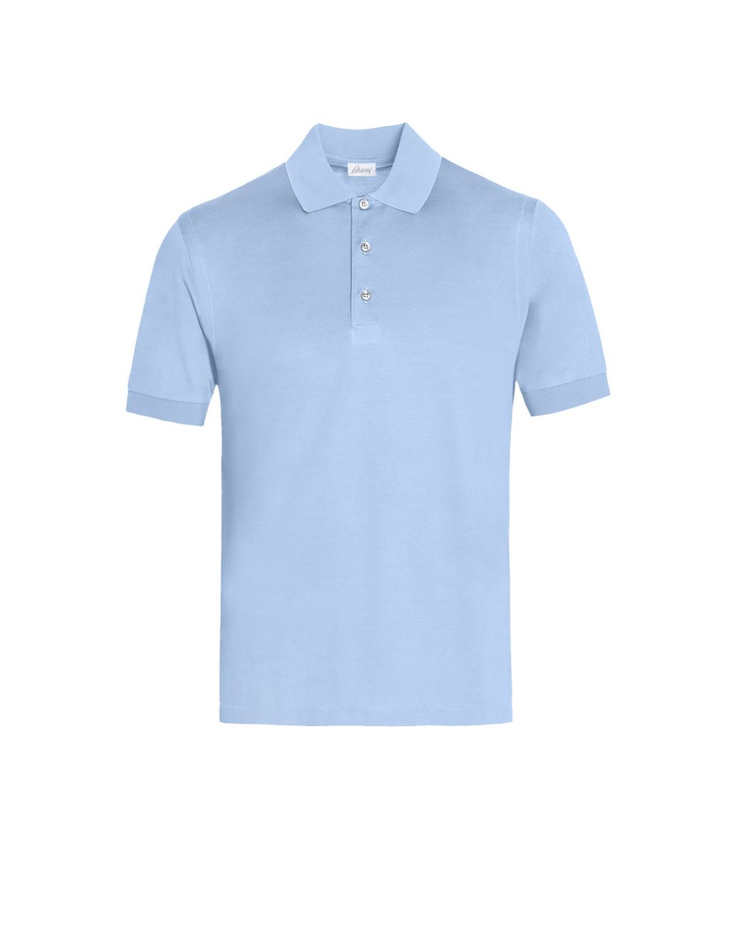 BRIONI Baby Blue Silk Polo Shirt T-Shirts & Polos Man f