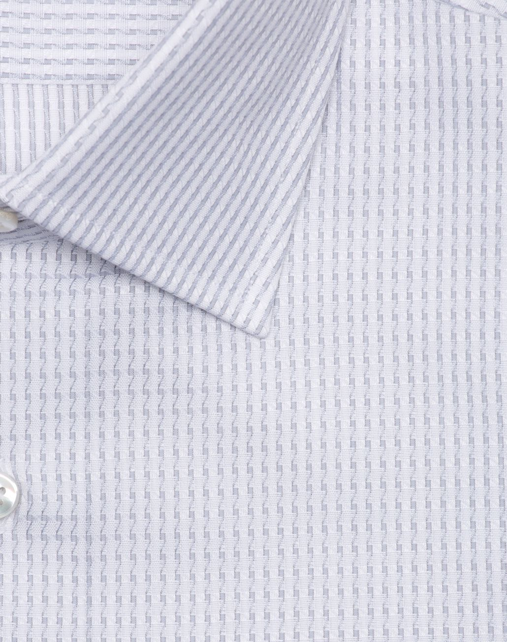 BRIONI White and Lead Striped Formal shirt Man r