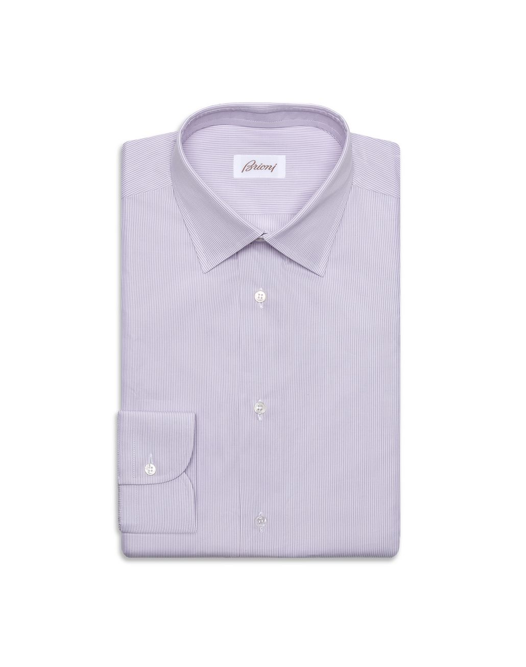 BRIONI Pink Striped Shirt Leisure shirt Man f