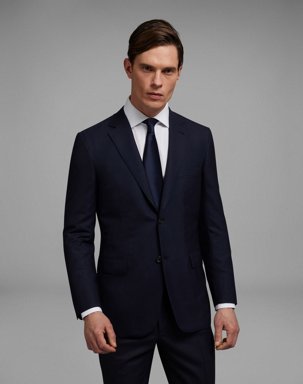 BRIONI 'Essential' Navy Blue Ravello Jacket Jackets Man r