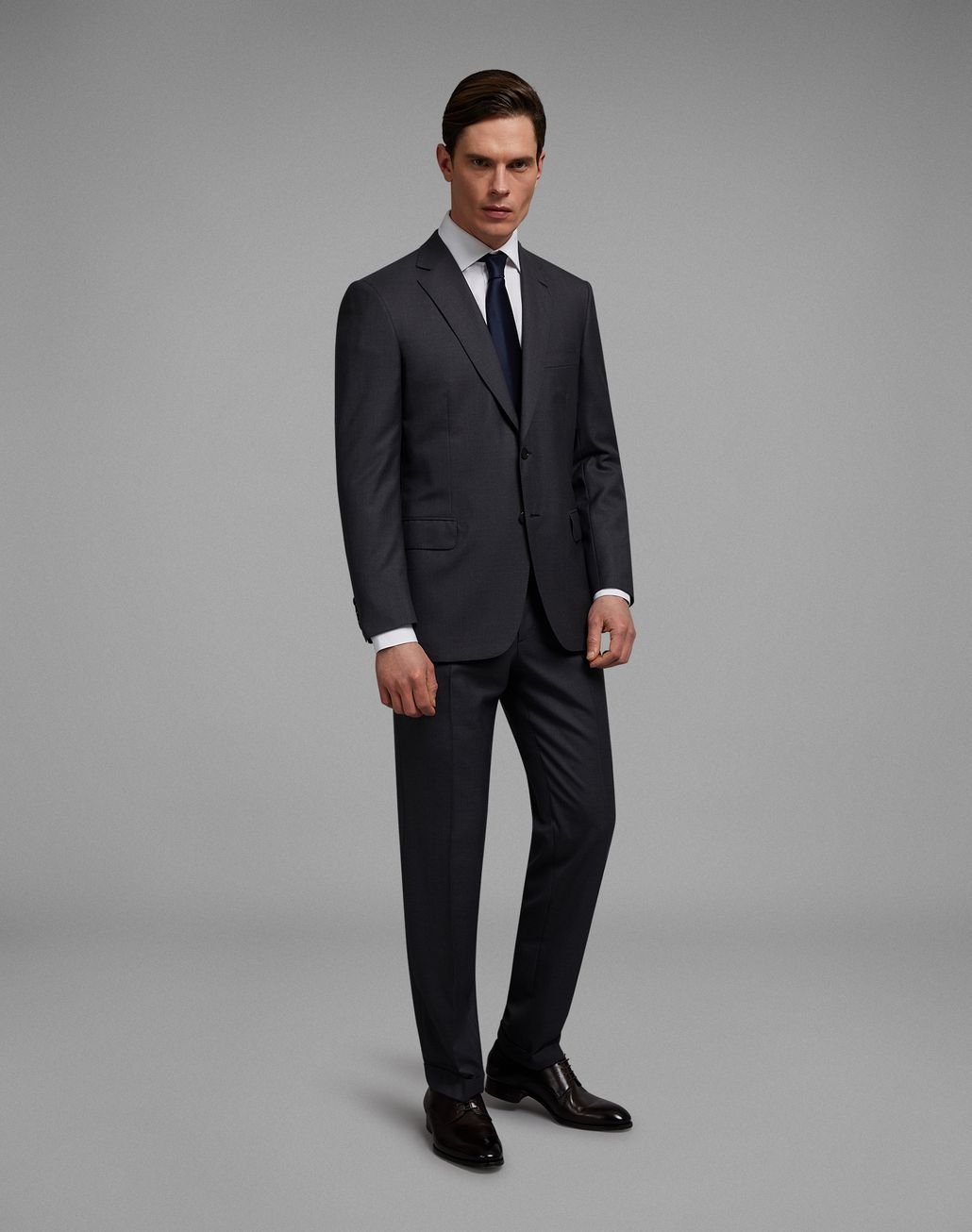 BRIONI 'Essential' Grey Brunico Suit Suits & Jackets [*** pickupInStoreShippingNotGuaranteed_info ***] r