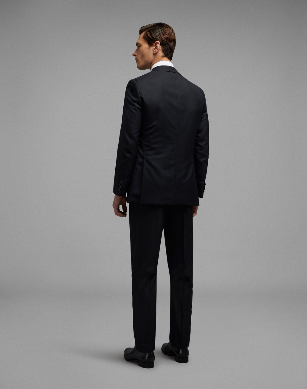 BRIONI 'Essential' Black Brunico Suit Suits & Jackets [*** pickupInStoreShippingNotGuaranteed_info ***] d