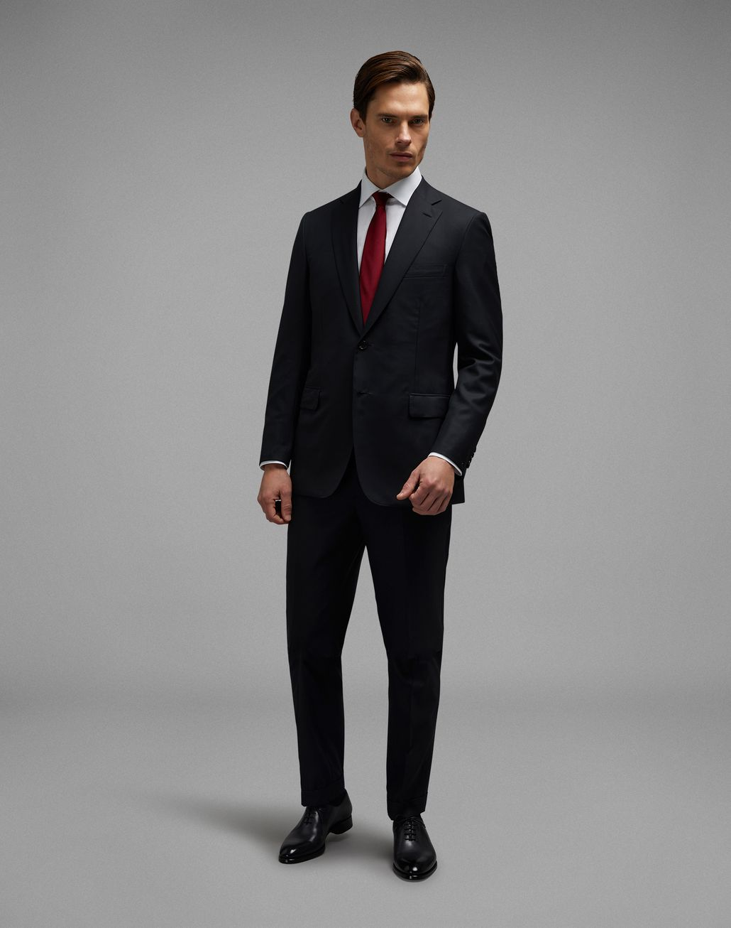 BRIONI 'Essential' Black Brunico Suit Suits & Jackets [*** pickupInStoreShippingNotGuaranteed_info ***] r
