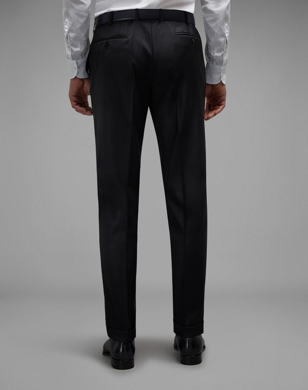 BRIONI 'Essential' Black Tigullio Trousers Trousers [*** pickupInStoreShippingNotGuaranteed_info ***] d