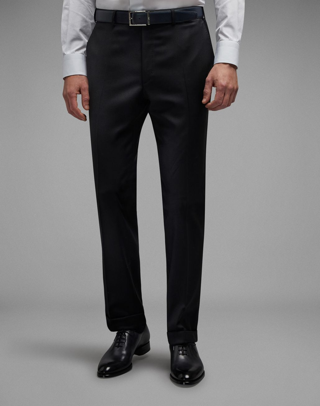 BRIONI 'Essential' Black Tigullio Trousers Trousers [*** pickupInStoreShippingNotGuaranteed_info ***] r