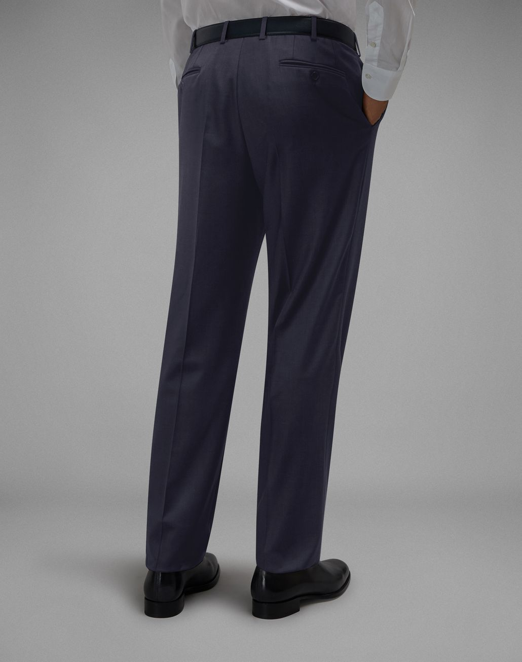 BRIONI 'Essential' Navy Blue Tigullio Trousers Trousers [*** pickupInStoreShippingNotGuaranteed_info ***] d