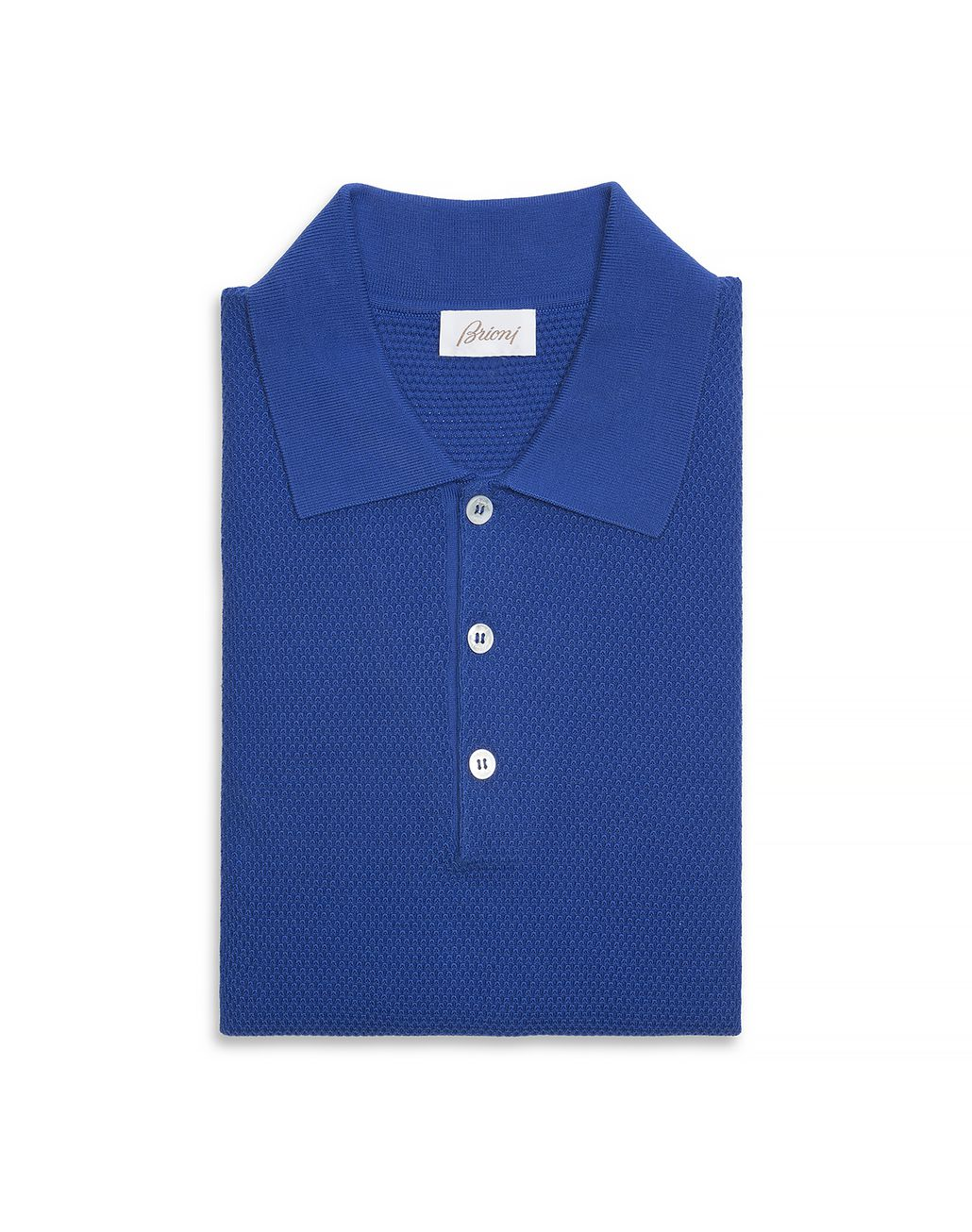 BRIONI Bluette Three Button Polo Shirt T-Shirts & Polos U f