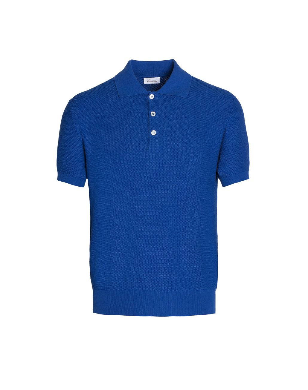 BRIONI Bluette Three Button Polo Shirt T-Shirts & Polos Man r