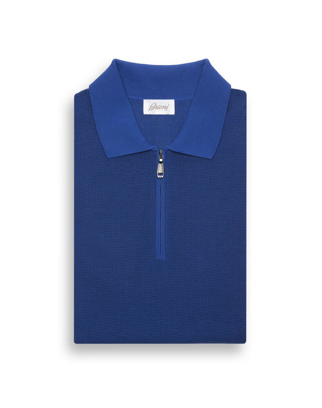 BRIONI Bluette Zipped Polo Shirt T-Shirts & Polos Man f