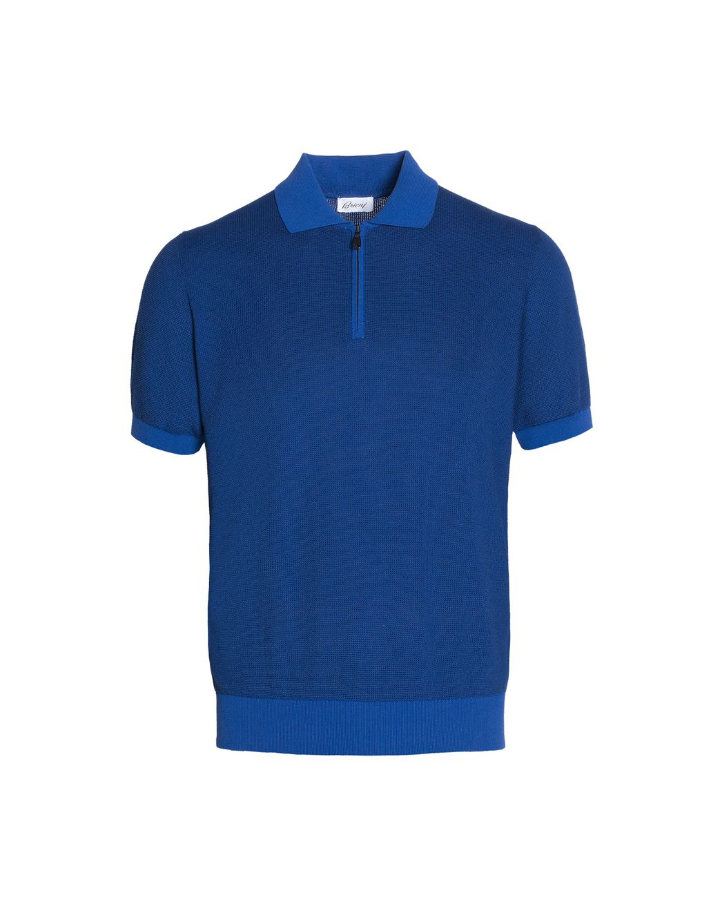 BRIONI Bluette Zipped Polo Shirt T-Shirts & Polos Man r