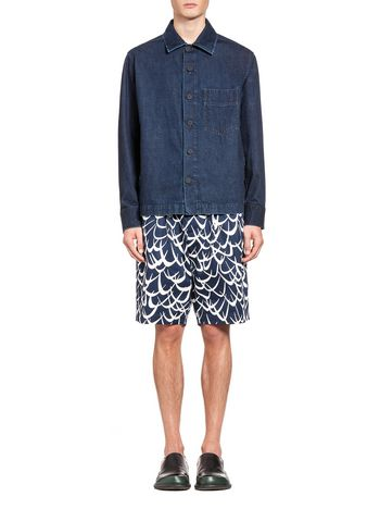 Marni Jacket in cotton denim Man