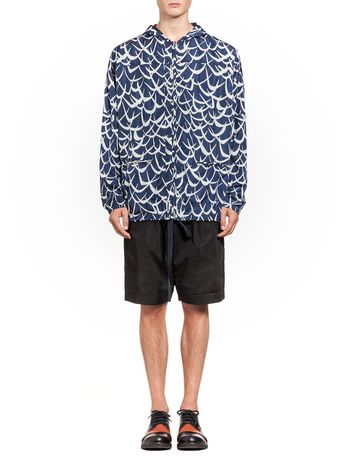 Marni Bomber jacket in nylon Flutter print Man
