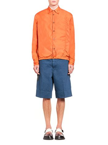 Marni Bomber jacket in nylon with drawstring Man