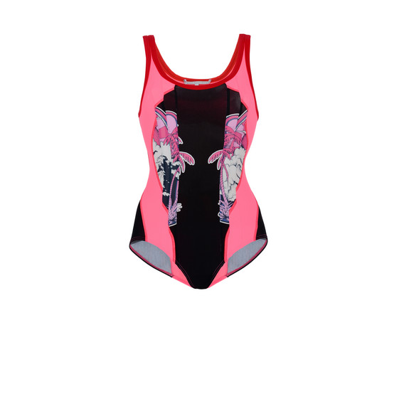 Amily Bodysuit in Red and Pink
