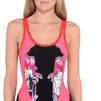 STELLA McCARTNEY Amily Bodysuit in Red and Pink Sleeveless D a