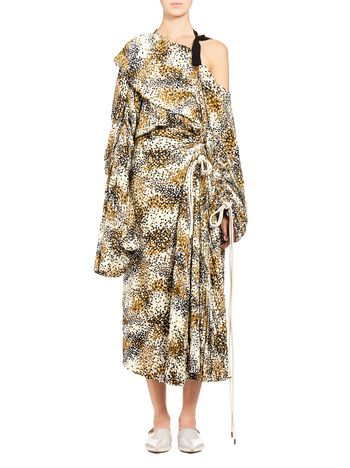 Marni Runway dress in silk crepe Mist Woman