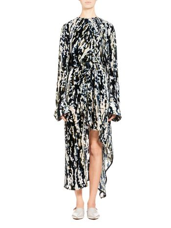 Marni Runway velvet dress with Haze print  Woman