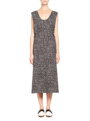 Marni Runway dress in coated poplin Granite Woman
