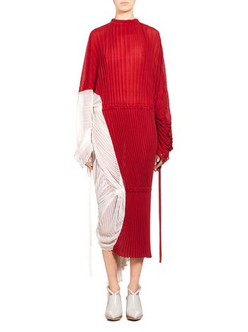 Marni Runway dress in pleated cotton and silk Woman