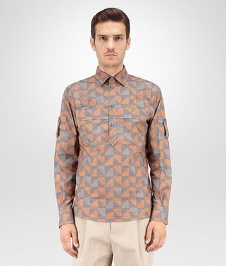 SHIRT IN MULTICOLOR PRINTED COTTON