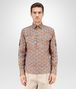 BOTTEGA VENETA SHIRT IN MULTICOLOR PRINTED COTTON Formalwear or shirt Man fp