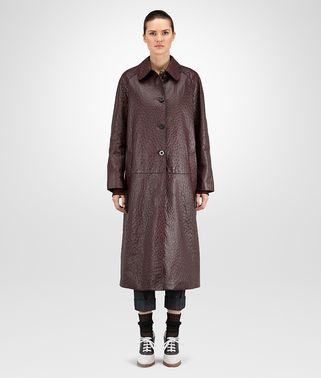 COAT IN DARK BAROLO OSTRICH