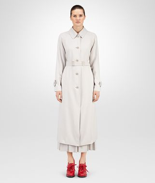 COAT IN MIST FLUID SILK