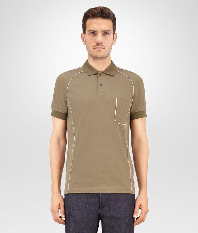 BOTTEGA VENETA POLO IN JERSEY DI COTONE DARK SERGEANT Polo & T-Shirt Uomo fp