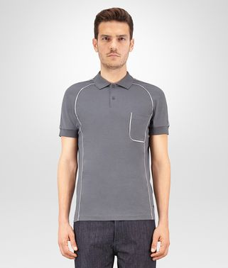 POLO IN DARK ARDOISE COTTON JERSEY