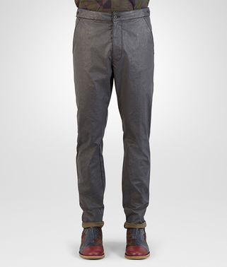 PANT IN DARK ARDOISE COATED COTTON