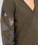 BOTTEGA VENETA SWEATER IN DARK SERGEANT MERINOS WOOL, EMBROIDERED PATCHWORK DETAILS Knitwear U ap