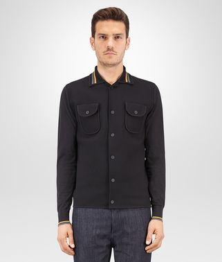 BLOUSON IN NERO COTTON NYLON