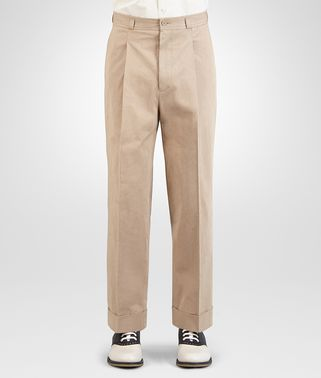 PANT IN LIGHT WALNUT COTTON