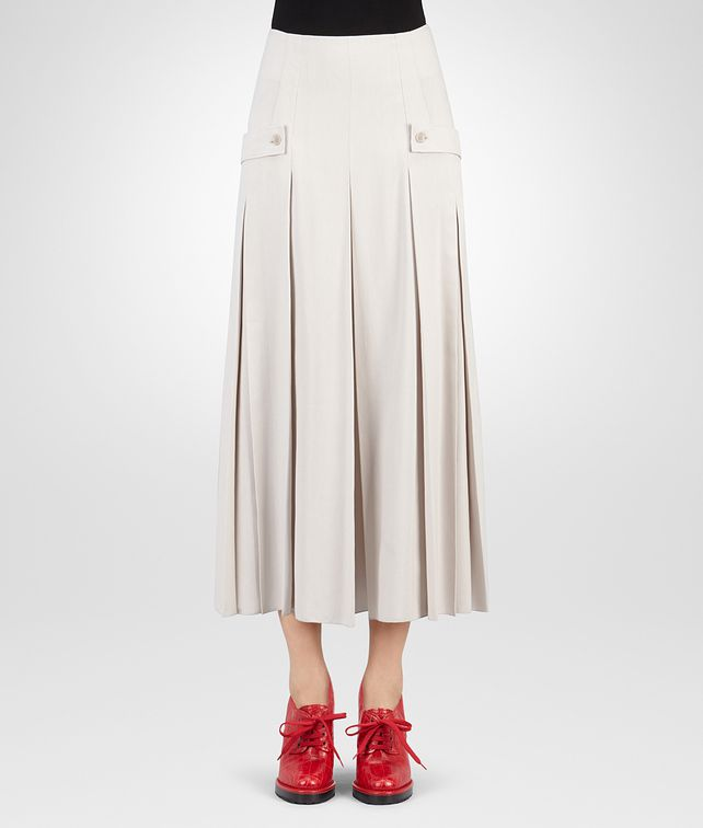 BOTTEGA VENETA SKIRT IN MIST FLUID SILK Skirt or trouser D fp
