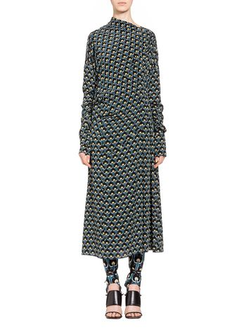 Marni Silk dress Portrait print Woman