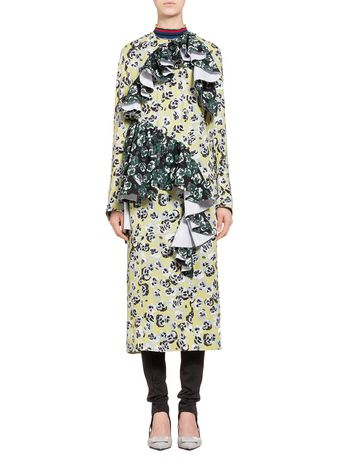 Marni Dress in sablé with Poetry Flower print Woman