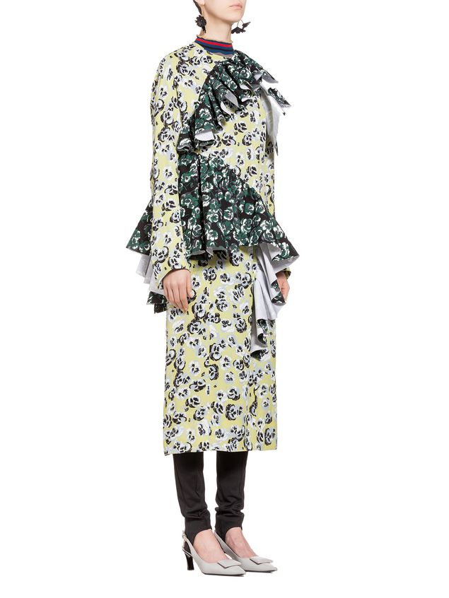 Marni Dress in sablé with Poetry Flower print Woman - 5