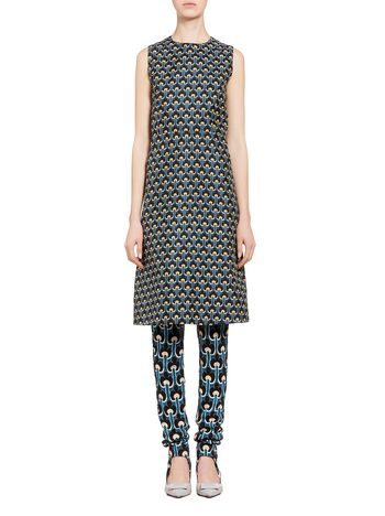 Marni Dress in cotton and silk with Portrait print Woman