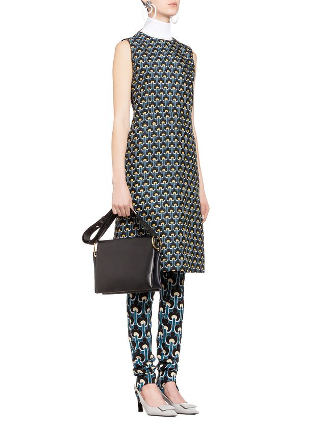 Marni Dress in cotton and silk with Portrait print Woman - 5