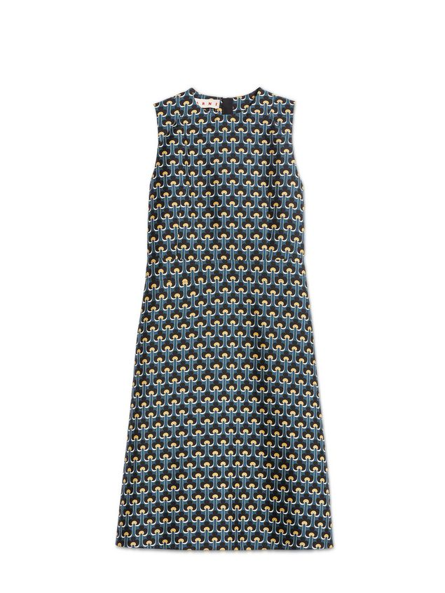 Marni Dress in cotton and silk with Portrait print Woman - 2